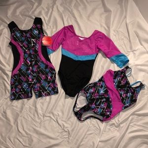3 DANSKIN freestyle Leotards (one is NWT)